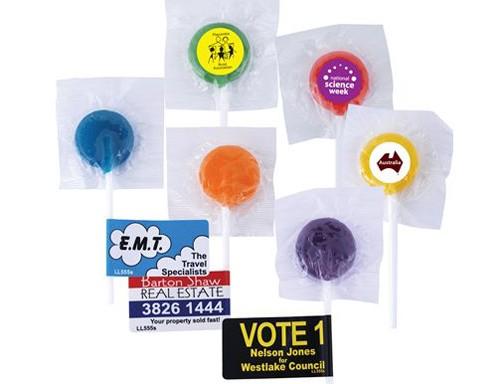 Logo Lollipops (Assorted Colours)