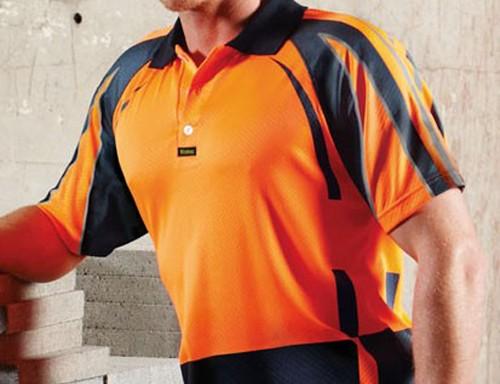 Workwear hi vis hunter promotional products for Hi vis polo shirts with pocket