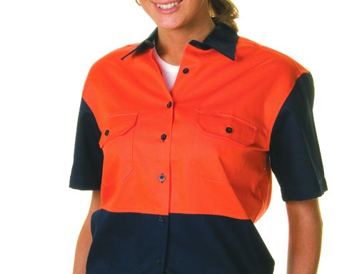 Ladies' Two-Tone Drill Shirt