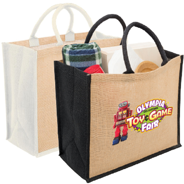 Eco Jute Tote with Gusset