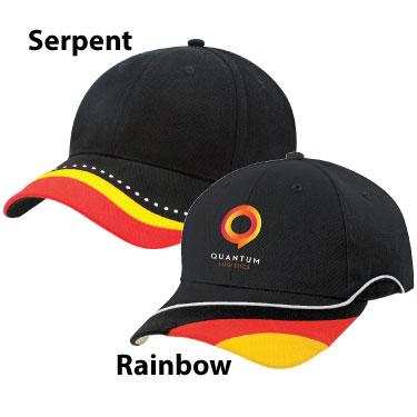 Rainbow & Serpent Caps