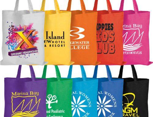 Coloured Cotton Bags – Short Handle