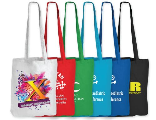 Coloured Cotton Bags – Long Handle